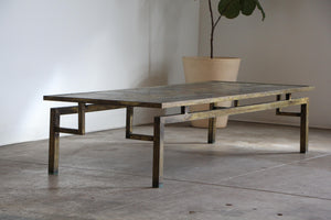 "Philip & Kelvin Laverne Bronze ""Chin Ying"" Coffee Table, 1960s"
