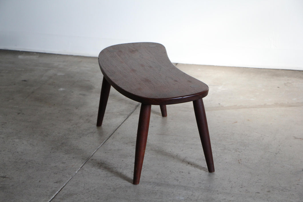 Philip Arctander Style Curved Stool by Illums Blights, 1960s