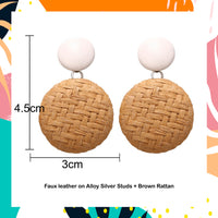 RoundAya! Straw Earrings