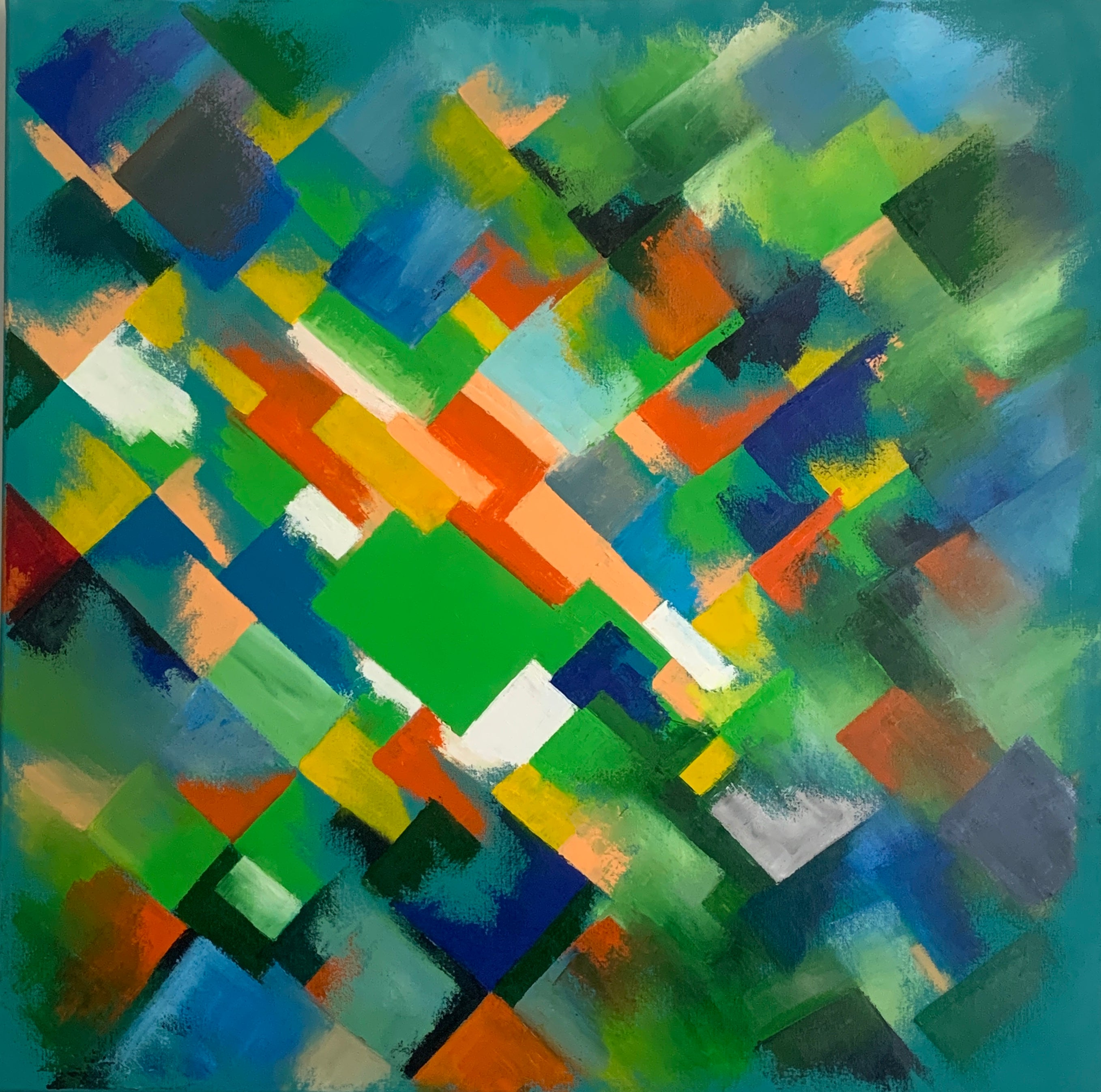 Dulwich abstract oil painting