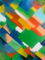 Dulwich Abstract Oil Painting Detail