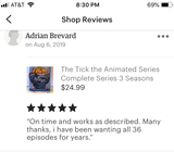 The Tick the Animated Series Complete Series 3 Seasons with 36 Episodes on 2 Blu-ray Discs