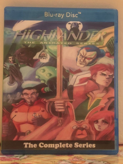 Highlander The Animated Series 2 Seasons with 40 Episodes on 2 Blu-ray Discs