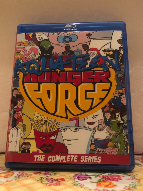 Aqua Teen Hunger Force The Complete Series 11 Seasons with 140 Episodes plus a ton of Extras on 7 Blu-ray Discs in 720p HD