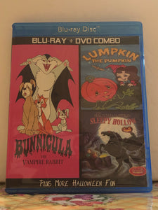 Bunnicula The Vampire Rabbit, Lumpkin The Pumpkin and The Haunted Pumpkin of Sleepy Hollow on Blu-ray DVD Combo