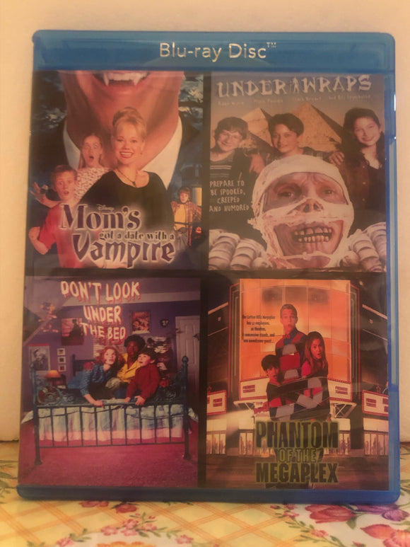 Disney Movie Collection: Mom's got a Date with a Vampire, Under Wraps, Don't Look Under the Bed, Phantom of the Megaplex on 2 Blu-ray Discs