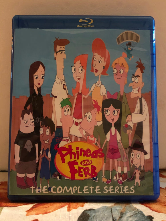 Phineas and Ferb The Complete Series 4 Seasons, 222 Episodes on 10 Blu-ray Discs in 720p HD