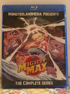 Mighty Max The Complete Series 2 Seasons 40 Episodes on 3 Blu-ray Discs in 720p HD