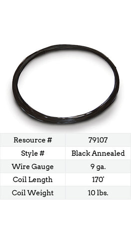 Black Annealed Smooth Wire 9 Gauge - 170-ft.