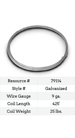 Galvanized Smooth Wire 9 Gauge - 425-ft.