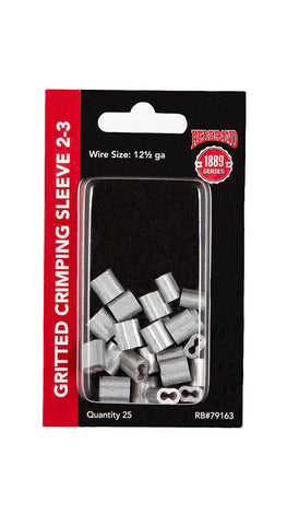 Crimp Sleeve 2-3#  - 25 count
