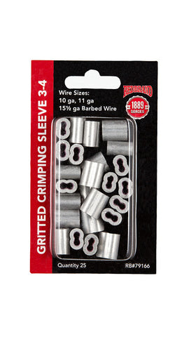 Crimp Sleeve 3-4#  - 25 count