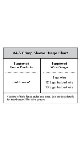Crimp Sleeve 4-5#  - 50 count