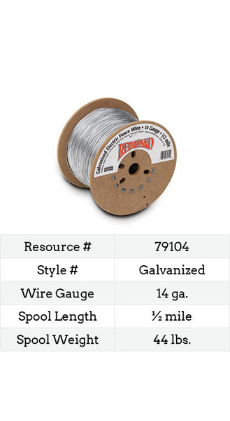 Galvanized Electric Fence Wire 14 Gauge - 2640-ft.
