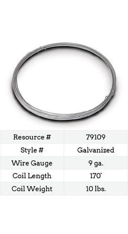 Galvanized Smooth Wire 9 Gauge - 170-ft.
