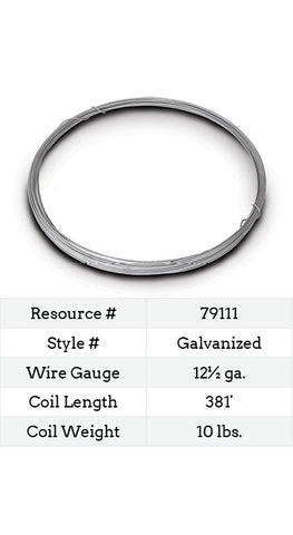 Galvanized Smooth Wire 12½ Gauge - 381-ft.
