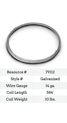 Galvanized Smooth Wire 14 Gauge - 584-ft.