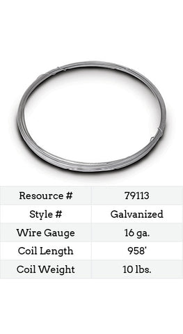 Galvanized Smooth Wire 16 Gauge - 958-ft.