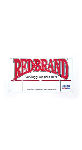 Red Brand Plate
