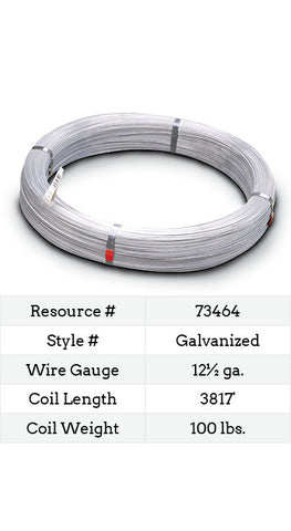 Galvanized Smooth Wire 12½ Gauge - 3817-ft.