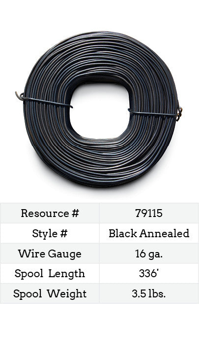 Ty Wire for Rebar 16 Gauge Black Annealed - 336-ft. | Red Brand Store