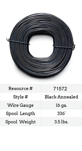 Ty Wire for Rebar 16 Gauge Black Annealed - 336-ft.