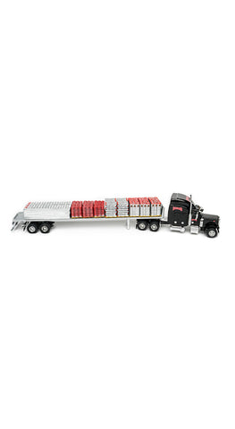 Red Brand Die-Cast Flat Bed Truck