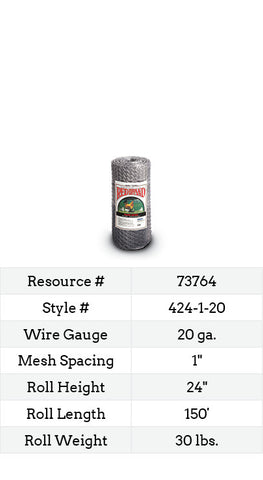 Keyline Poultry Netting 150-ft. #424-1-20