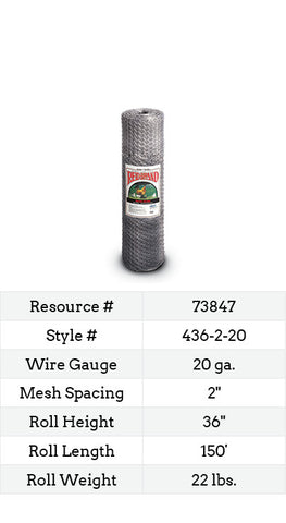 Keyline Poultry Netting 150-ft. #436-2-20