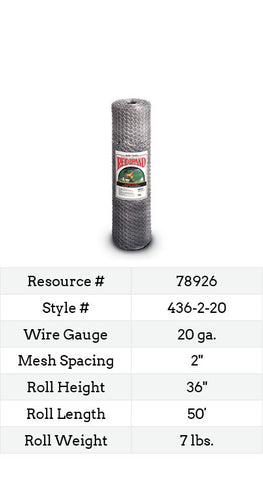 Keyline Poultry Netting 50-ft. #436-2-20