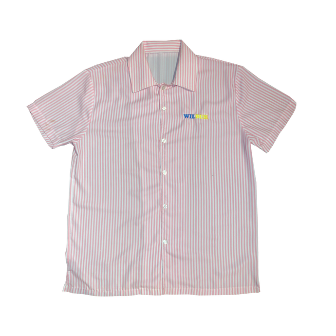 PINK STRIPES BUTTON-UP