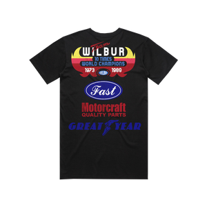 TEAM WILBUR RACING T-SHIRT - BLACK