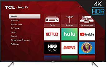 75 inch ROKU TCL TV - Finance with Klarna with easy financing options -$67.00 month @18 payments