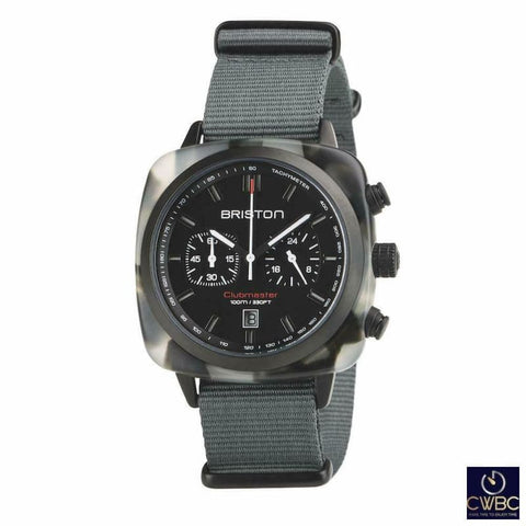 Briston Jewellery & Watches:Watches, Parts & Accessories:Wristwatches Briston Clubmaster Chrono Sport 42 PVD Tortoise Acetate Black Dial Watch