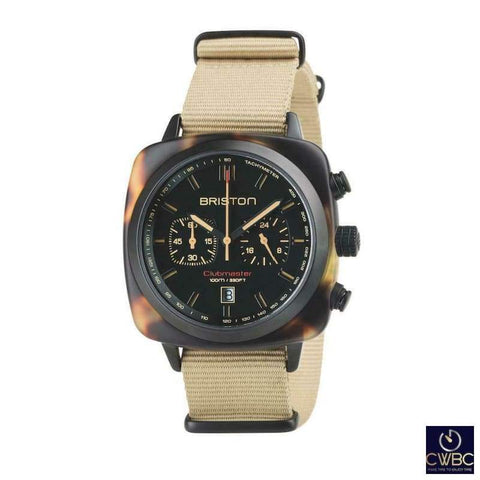 Briston Jewellery & Watches:Watches, Parts & Accessories:Wristwatches Briston Clubmaster Chrono Sport 42 Safari Tortoise Watch