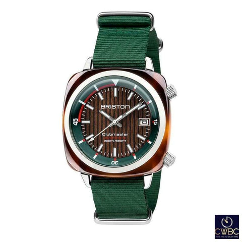 Briston Jewellery & Watches:Watches, Parts & Accessories:Wristwatches Briston Clubmaster Diver Automatic Date 42 Acetate Walnut Wood Dial Watch