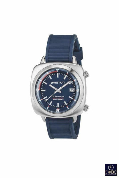 Briston Jewellery & Watches:Watches, Parts & Accessories:Wristwatches Briston Clubmaster Diver Automatic Date 42 Brushed Steel Blue Dial Watch