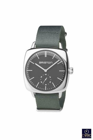 Briston Jewellery & Watches:Watches, Parts & Accessories:Wristwatches Briston Clubmaster Vintage Steel HM Date 40 Polished Steel with Grey Dial Watch