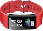 Calypso Wristwatch Calypso Smartime Smart Watch Bluetooth Multifunction Fitness Tracker Red