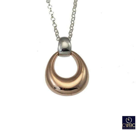 Christin Ranger Jewellery & Watches:Fine Jewellery:Fine Necklaces & Pendants:Other Necklaces & Pendants Christin Ranger Sterling Silver and Rose Gold Droplet Waltz Pendant Necklace