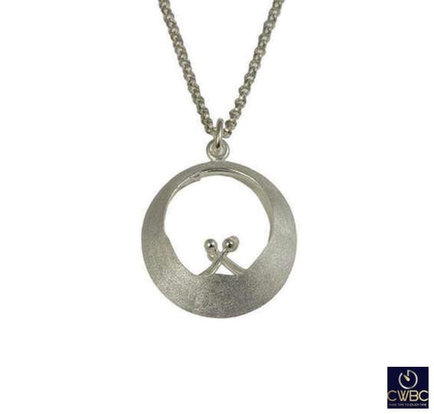 Christin Ranger Jewellery & Watches:Fine Jewellery:Fine Necklaces & Pendants:Other Necklaces & Pendants Christin Ranger Sterling Silver Water Feature Waves Pendant Necklace