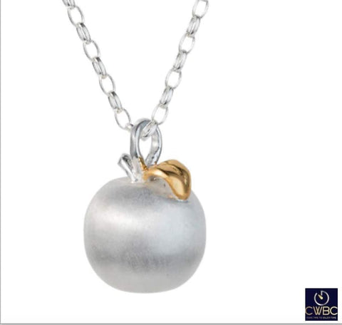 Christin Ranger Jewellery & Watches:Fine Jewellery:Fine Necklaces & Pendants:Precious Metal without Stones Christin Ranger Sterling Silver Apple Of My Eye Fruit Pendant Necklace