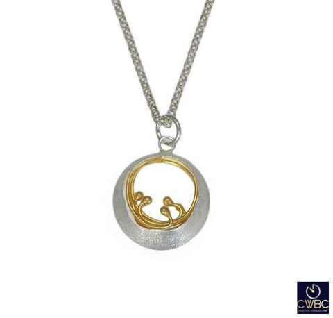 Christin Ranger Jewellery & Watches:Fine Jewellery:Fine Necklaces & Pendants:Precious Metal without Stones Christin Ranger Sterling Silver Little Water Feature Waves Pendant Necklace