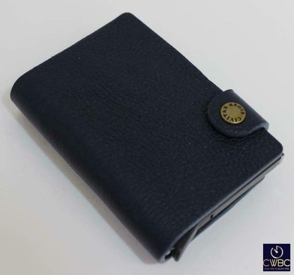 Civitas Regis Clothes, Shoes & Accessories:Men's Accessories:Wallets Civitas Regis RFID Cardprotector Slimline Wallet in Genuine Calfskin Blue