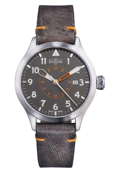 Davosa Davosa Automatic Neoteric Pilot Auto Transparent Case Back & Vintage Leather Strap Wrist Watch