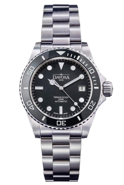 Davosa Jewellery & Watches:Watches, Parts & Accessories:Wristwatches Davosa Automatic Black Ternos Professional Divers Watch Helium Valve Wrist Watch