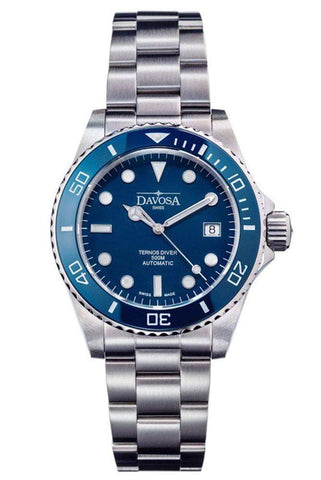Davosa Jewellery & Watches:Watches, Parts & Accessories:Wristwatches Davosa Automatic Ternos Professional Divers Watch Automatic Helium Valve Wrist Watch