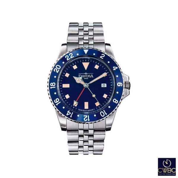Davosa Jewellery & Watches:Watches, Parts & Accessories:Wristwatches Davosa Blue Bezel Vintage Diver Watch