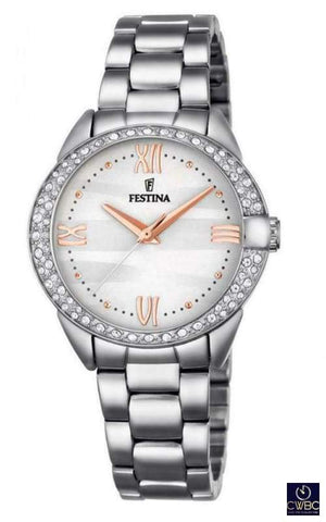 Festina Jewellery & Watches:Watches, Parts & Accessories:Wristwatches Festina Ladies Watch with Steel Bracelet F16919/1