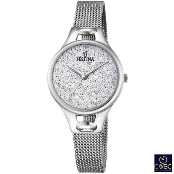 Festina Jewellery & Watches:Watches, Parts & Accessories:Wristwatches Festina Ladies Watch with Swarovski Crystals & Mesh Bracelet F20331/1
